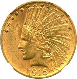 Image of 1916-S $10 NGC MS60
