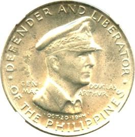 Image of Philippines: 1947-S 50c NGC UNC Details (Douglas Macarthur, KM#184) .2411 oz Silver