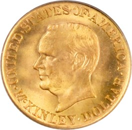 Image of 1916 McKinley G$1 PCGS MS67