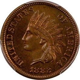 Image of 1882 1c PCGS Proof 64 RB