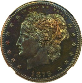 Image of 1879 Pattern 25c NGC Proof 65 BN (J-1591)