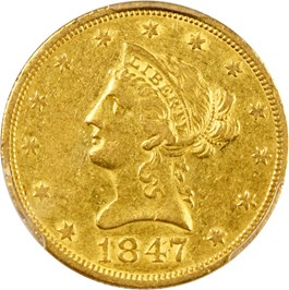 Image of 1847-O $10 PCGS XF40