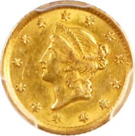 Image of 1852-O G$1 PCGS/CAC AU58