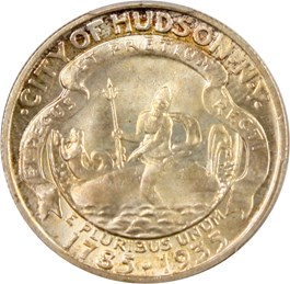 Image of 1935 Hudson 50c PCGS MS65