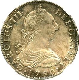 Image of Bolivia: 1780-PTS PR 8 Reales NGC Genuine AU Details (Bent, KM#55) .7858 oz Silver