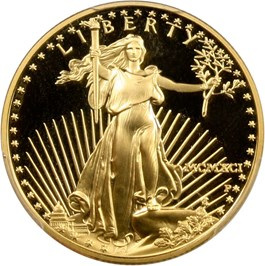 Image of 1991-P Gold Eagle $25 PCGS Proof 70 DCAM