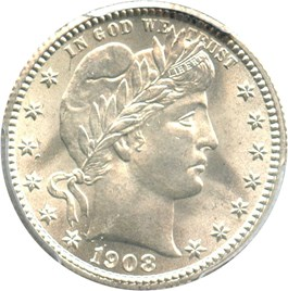Image of 1908 25c PCGS/CAC MS65