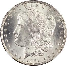 Image of 1891-CC $1 NGC/CAC MS63 (VAM-3, Spitting Eagle)