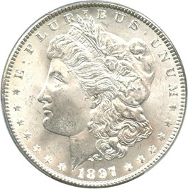 Image of 1897 $1 PCGS/CAC MS65