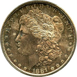 Image of 1881-S $1 PCGS/CAC MS66