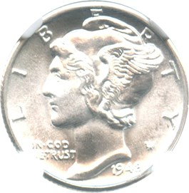 Image of 1942-D 10c NGC/CAC MS67+ FB