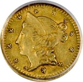 Image of 1853 Cal. Gold 50c PCGS AU58 (BG-415, OGH)