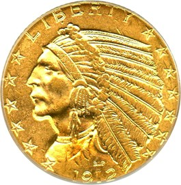 Image of 1912 $5 PCGS MS61 (OGH)
