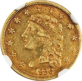 Image of 1836 $2 1/2 NGC/CAC VF35 (Block 8)