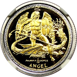Image of Isle of Man: 2009 Bi-Metallic Angel NGC PR69 UCAM (25th Anniversary)