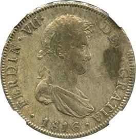 Image of Bolivia: 1816-PTS PJ 8 Reales NGC XF45 (KM#84) .7797 oz Silver