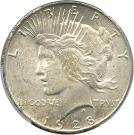 Image of 1928 $1 PCGS/CAC MS62