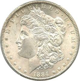 Image of 1884-CC $1 PCGS/CAC MS64