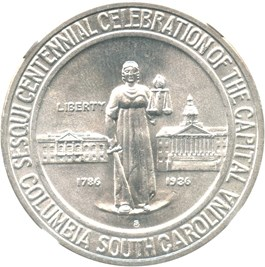 Image of 1936-S Columbia 50c NGC/CAC MS66