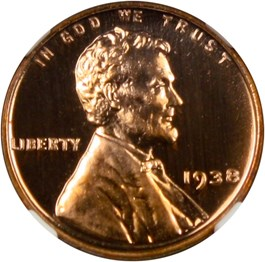 Image of 1938 1c NGC Proof 66 RD CAM