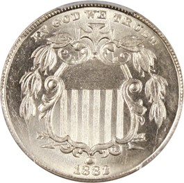 Image of 1882 5c PCGS/CAC MS65