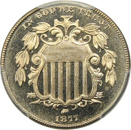 Image of 1877 5c PCGS Proof 65 CAM