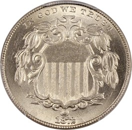 Image of 1872 5c PCGS/CAC MS65