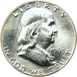 Image of 1963 50c PCGS MS66 FBL