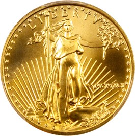 Image of 1991 Gold Eagle $25 PCGS MS69