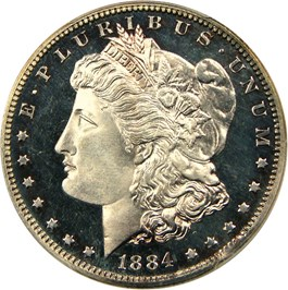 Image of 1884 $1 PCGS Proof 66 CAM
