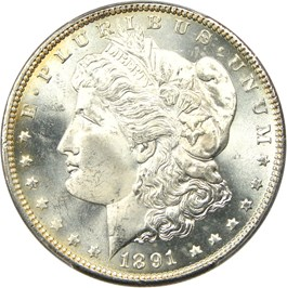 Image of 1891-CC $1 PCGS MS64+