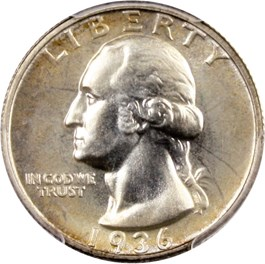 Image of 1936 25c PCGS Proof 66