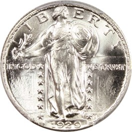 Image of 1929 25c PCGS MS66 FH