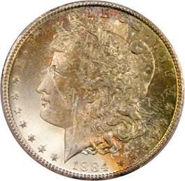 Image of 1884-CC $1 PCGS MS66
