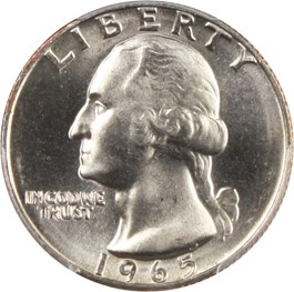 Image of 1965 25c PCGS MS67+