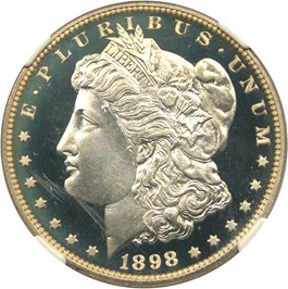 Image of 1898 $1 NGC Proof 67 UCAM