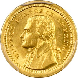 Image of 1903 Jefferson G$1 PCGS MS62