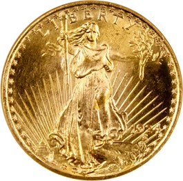 Image of 1924 $20 NGC/CAC MS65