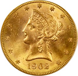 Image of 1902-S $10 PCGS/CAC MS64