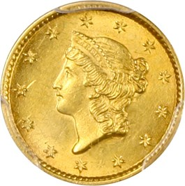Image of 1853 G$1 PCGS/CAC MS63