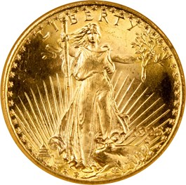 Image of 1925 $20 NGC/CAC MS65