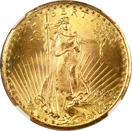 Image of 1927 $20 NGC/CAC MS65+