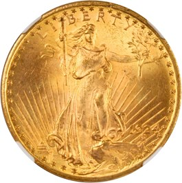 Image of 1924 $20 NGC/CAC MS64+