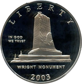 Image of 2003-P First Flight 50c PCGS Proof 70 DCAM
