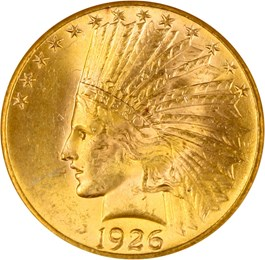 Image of 1926 $10 NGC/CAC MS64