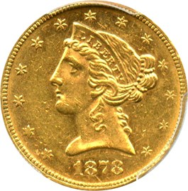 Image of 1878 $5 PCGS MS61