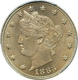 Image of 1883 5c PCGS MS62 (With Cents)