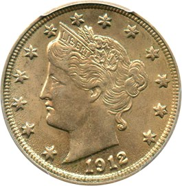 Image of 1912 5c PCGS MS62