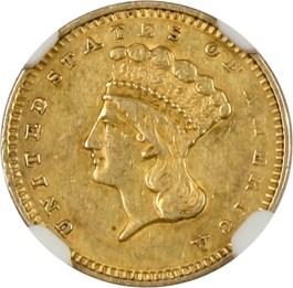 Image of 1857-S G$1 NGC AU55