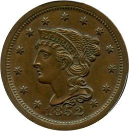 Image of 1852 1c PCGS MS62 BN
